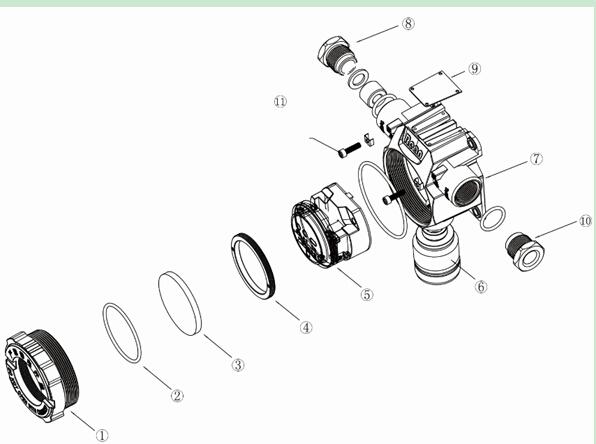 可燃气体探测器结构图